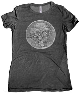 Hunter S. Thompson Hobo Nickel Women's Shirt by Epicdelusion