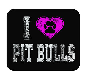 I Love Pit Bulls Premium Mouse Pad by Epicdelusion