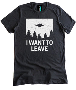 I Want to Leave Alien Spaceship Premium Shirt