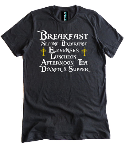 Lord of the Rings Second Breakfast Shirt by Epicdelusion