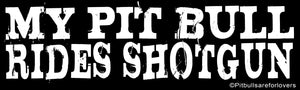 My Pit Bull Rides Shotgun Bumper Sticker by Epicdelusion