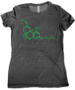 THC Molecule Women's Shirt by Epicdelusion