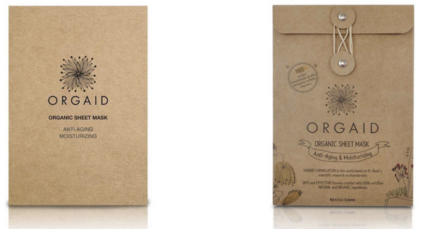 Orgaid Organic Sheet Masks, $8 each