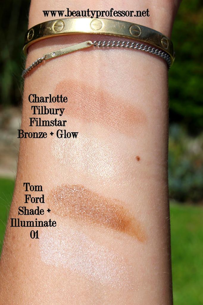 I used the Tom Ford cream contour first, then set with the Charlotte Tilbury powder