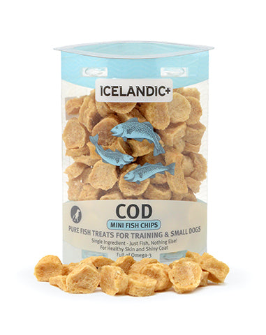 Icelandic+ Mini Cod Fish Chip Treats for Training & Small Dogs 2.0-oz Tube - Icelandic+