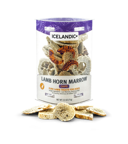 Icelandic+ Lamb Horn Marrow Chips Dog Treat 2.5-oz Tube - Icelandic+