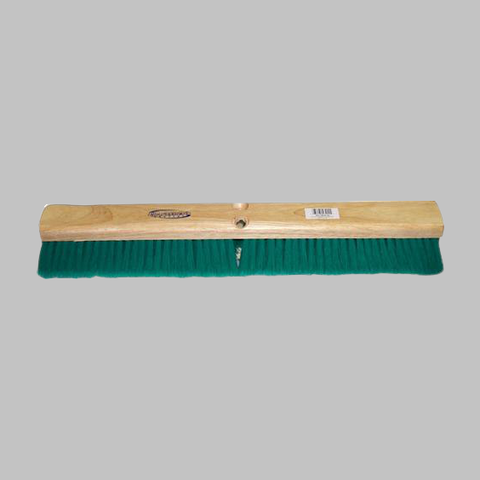 "24"" Medium Green Flagged Broom"