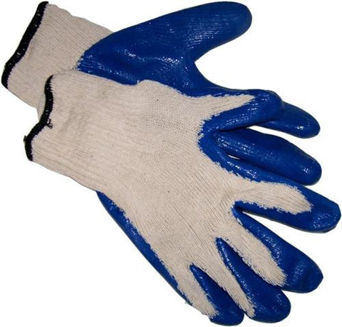 Non-Slip Blue Rubber Palm Glove