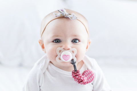 Soother Sidekicks Pacifier Clip Lifestyle - Lollypop Kids