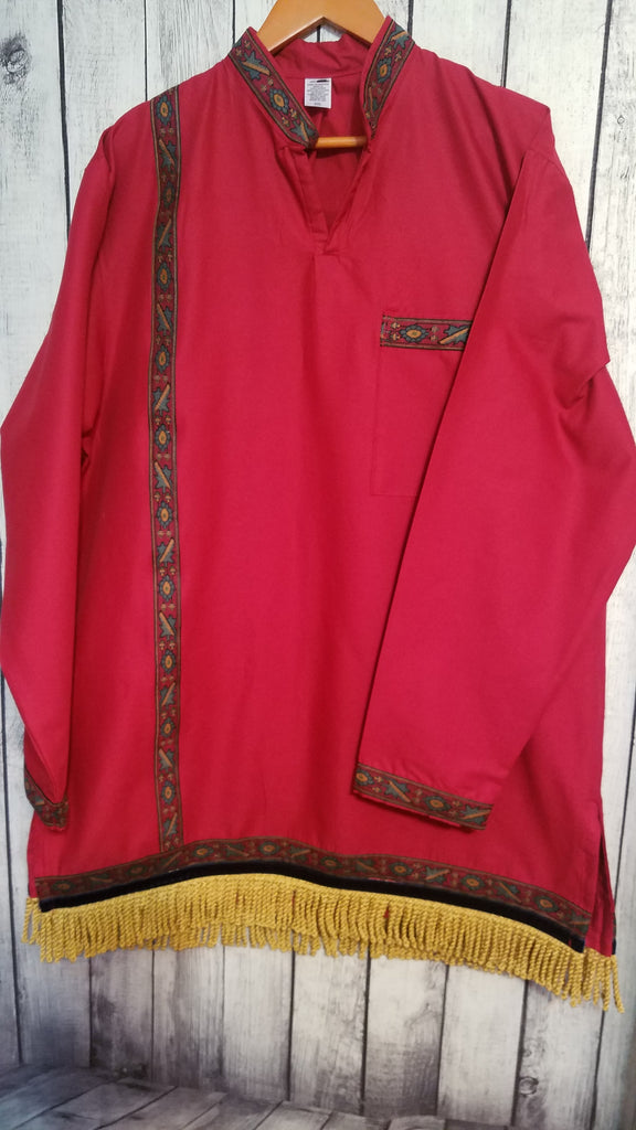 Burgandy garment long sleeve