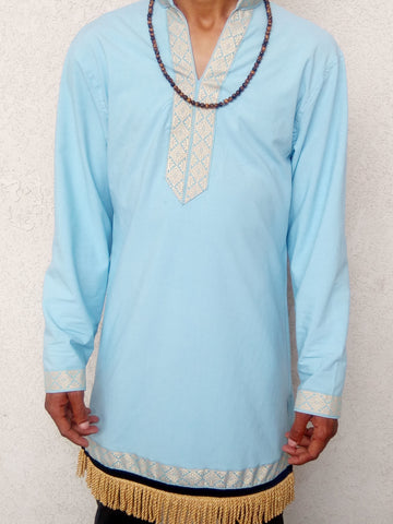 LIGHT BLUE LONG SLEEVE GARMENT