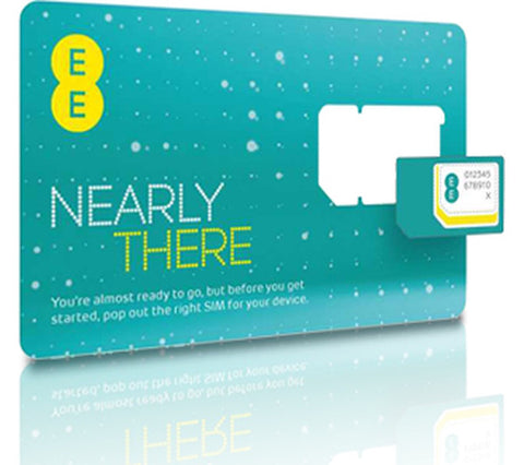 EE 4G / 3G Mobile Broadband PAYG Trio SIM Card Preloaded With 2GB Data upto 30 days