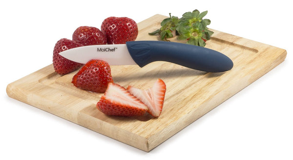 MoiChef 8-Piece Premium Ceramic Knife Set - 4 Color Kitchen Knives with White Sheaths in Gift Box