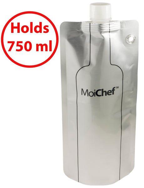 Moichef© Foldable Collapsible Wine Bottle with Premium Wine Tote Bag