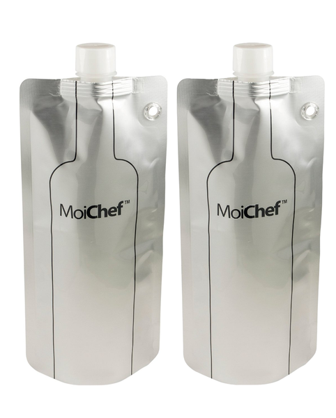 Moichef© Foldable Collapsible Flexible Wine Water Bottle (2 Bottles) - 750 ml