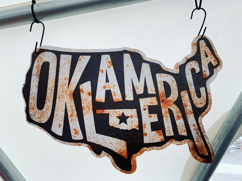 Oklamerica Tin Signs