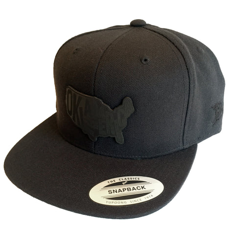 """Branded Bills"" leather patch cap - MIDNIGHT COLLECTION"