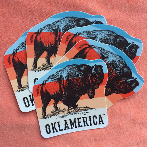 "Oklamerica bison ""sunset"" decal"