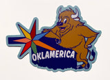 "Oklamerica Retro Road Sign 3"" decal"