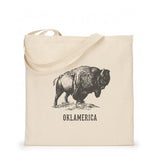 Oklamerica Canvas Bison Tote