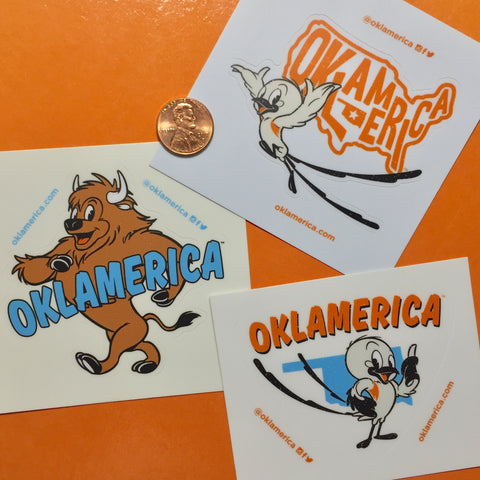 "Oklamerica Retro Character 3"" decal"