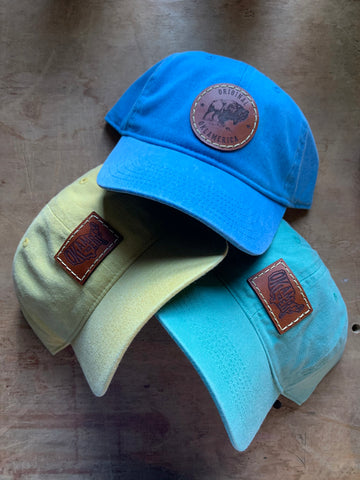 Leather Patch Comfort Colors Caps
