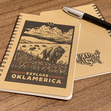 """Explore Oklamerica"" letterpress journal"