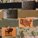 Leather military morale patch