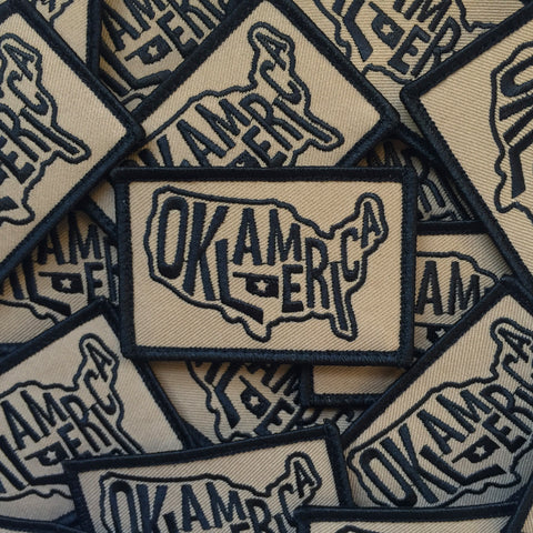 """Oklamerica"" military morale patch"