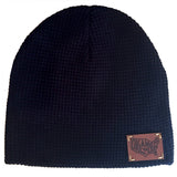 """Oklamerica"" leather patch beanie"