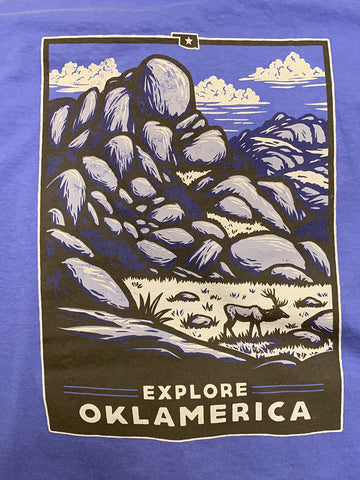 """Explore Oklamerica"" Wichita Mountains long sleeve"