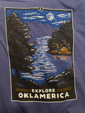 """Explore Oklamerica"" Lake Night long sleeve"