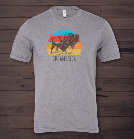 *Sunset* Bison Tee
