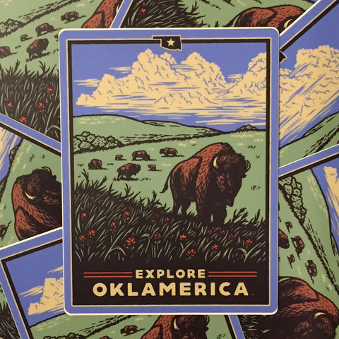 """Explore Oklamerica"" decals"