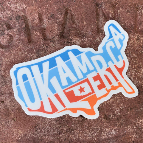 "Oklamerica ""sunset"" logo decal"
