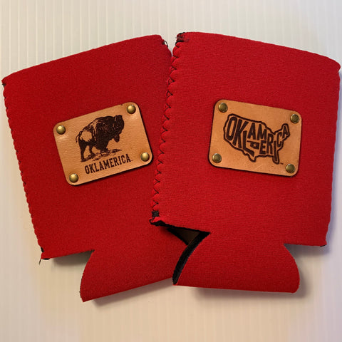 Leather Patch Koozie