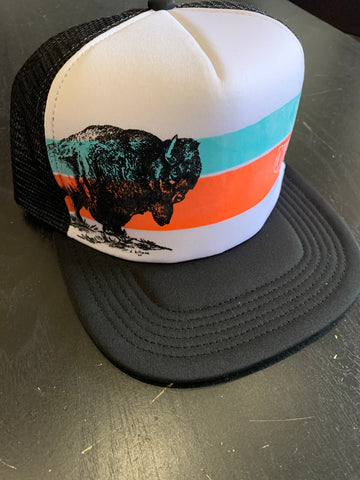 """Oklamerica"" Sunset Summer Trucker Cap"