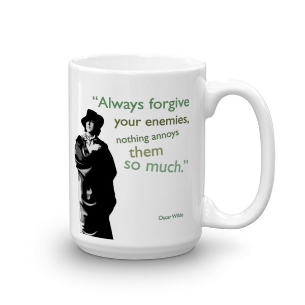 Oscar Wilde - Always Forgive Your Enemies Mug - SíosBóx T-Shirts