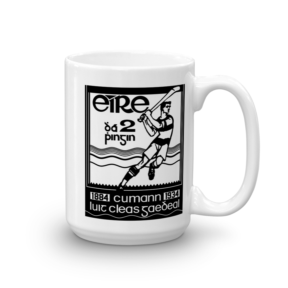 Hurling Stamp Mug - SíosBóx T-Shirts