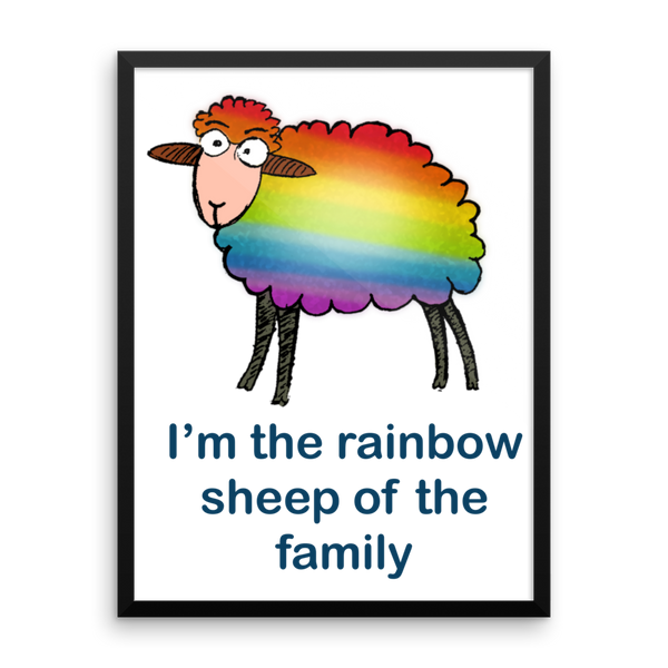 Rainbow Sheep of the Family Poster - SíosBóx T-Shirts