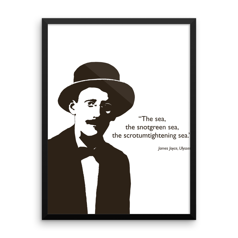 James Joyce - The Sea... Poster - SíosBóx T-Shirts