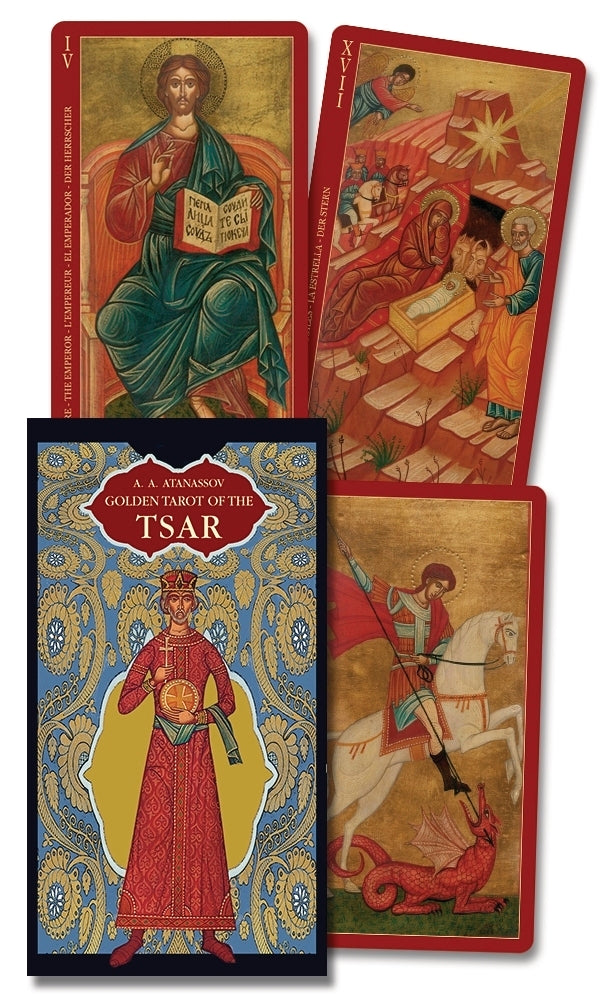 Load image into Gallery viewer, The Golden Tarot of Tsar