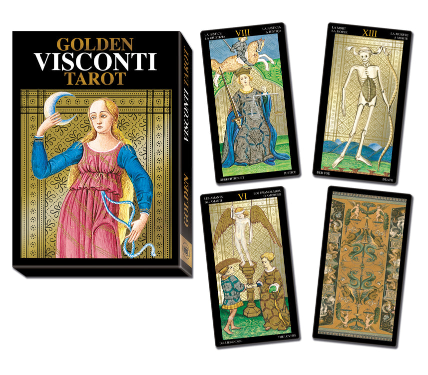 Load image into Gallery viewer, Golden Visconti Tarot Grand Trumps