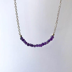 Amethyst Necklace - Little Fern Creations