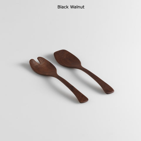 Salad Servers, Black Walnut