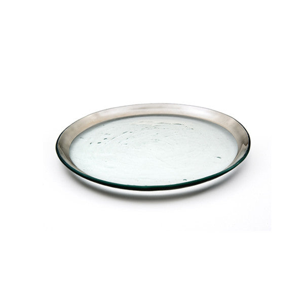 Annieglass Salad Plate in Platinum