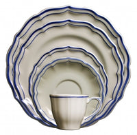 Gien Filet Bleu 5 Piece Place Setting