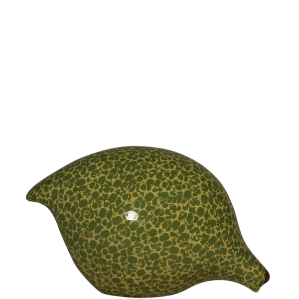 Quail- Frog Green Speckled Yellow