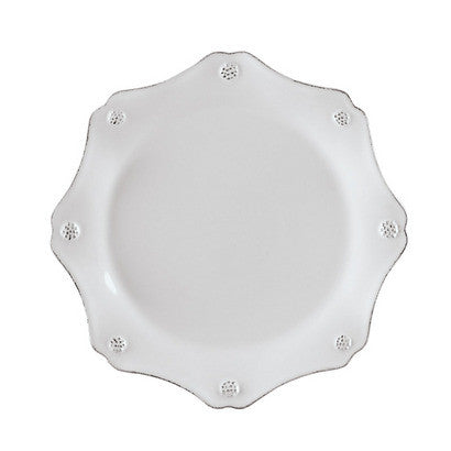 Juliska Berry and Thread Scallop Salad Plate, White