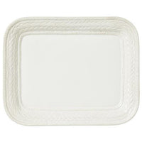 "Juliska Le Panier Whitewash 14.5"" Rectangular Platter"